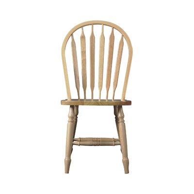 Audette Windsor Arrowback Solid Wood Dining Chair Finish: Unfinished