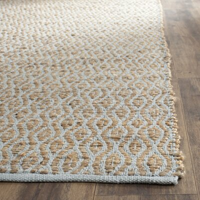Zap Hand-Woven Silver/Natural Area Rug Rug Size: Rectangle 6' x 9'