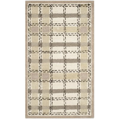 Colorweave Plaid Hand-Tufted Sharkey Gray Area Rug Rug Size: Rectangle 26 x 43