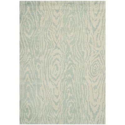 Layered Faux Bois Hand-Loomed Grey Mist Area Rug Rug Size: 4 x 6