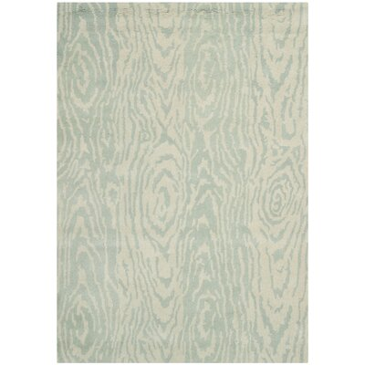 Layered Faux Bois Hand-Loomed Grey Mist Area Rug Rug Size: 5 x 8