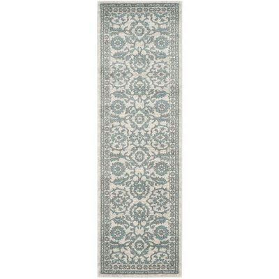 Ruthie Ivory/Gray Area Rug Rug Size: Runner 22 x 7