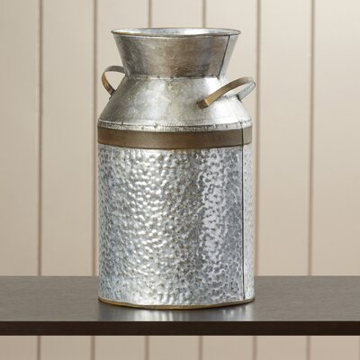 Edwina Decorative Galvanized Milk Can