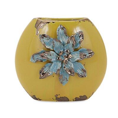 Mandan Flower Short Vase
