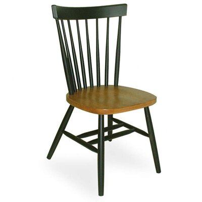 Sofia Arrowback Solid Wood Dining Chair Color: Cherry and Black