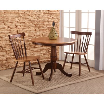 Sofia Arrowback Solid Wood Dining Chair Color: Cinnamon/Espresso