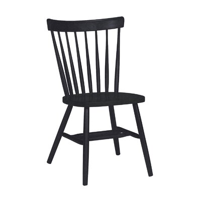 Sofia Arrowback Solid Wood Dining Chair Finish: Black