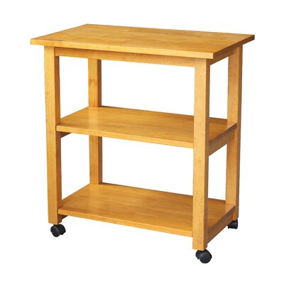 De Soto Kitchen Cart with Butcher Block Top Finish: Medium Oak