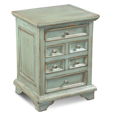 Ashleigh End Table Finish: Distressed Turquoise