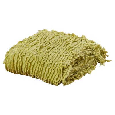 Melisande Ruffled Throw Blanket Color: Willow
