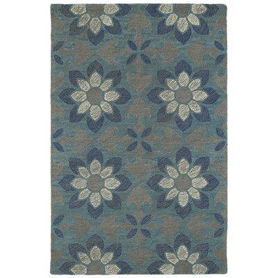 Hand-Tufted Blue Area Rug Rug Size: 36 x 56