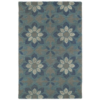 Hand-Tufted Blue Area Rug Rug Size: 5 x 9