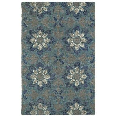 Hand-Tufted Blue Area Rug Rug Size: Rectangle 9 x 12