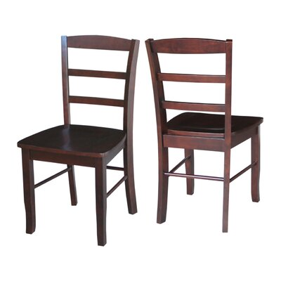 Brianne Ladderback Solid Wood Dining Chair Finish: Rich Mocha