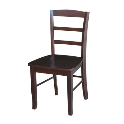 Brianne Solid Wood Dining Chair Color: Rich Mocha