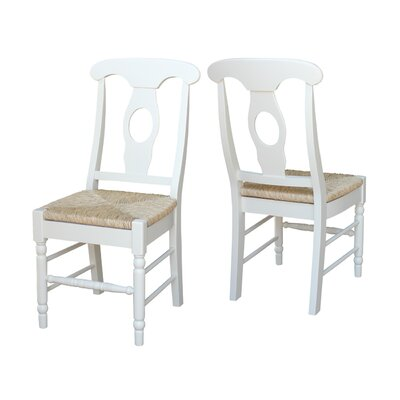 Audette Empire Side Chair Upholstery Rush Seat Finish Linen