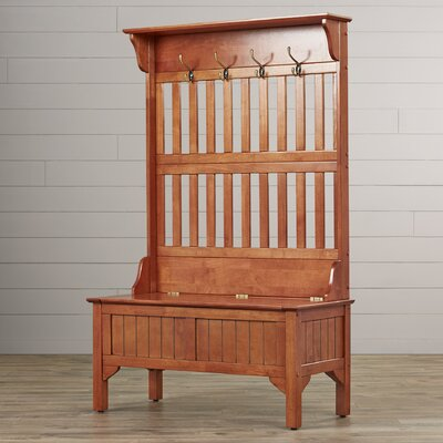 Mountain City Hall Tree Full Storage Bench Finish: Oak