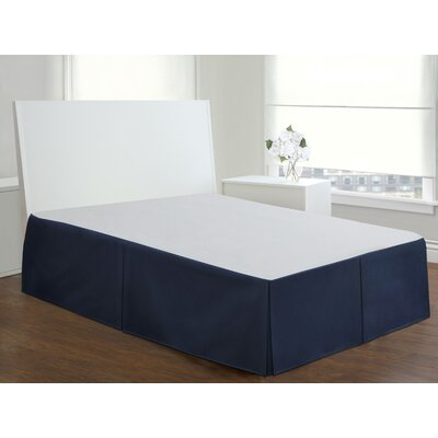 Gwinner Tailored Bed Skirt Size: Queen, Color: Navy