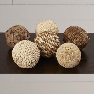 Carmella Decorative 6 Piece Ball Sculpture Set Size: 4 H x 4 W x 4 D