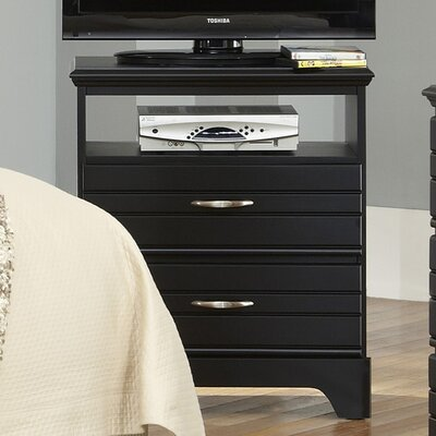 Della 2 Drawer Media Chest Color: Black