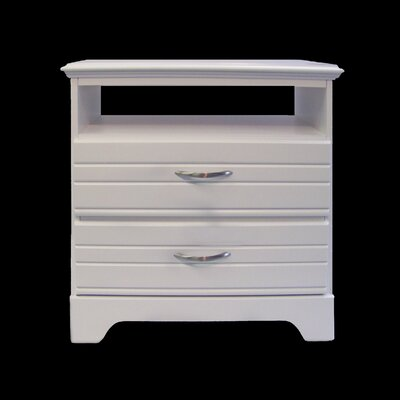 Della 2 Drawer Media Chest Color: White