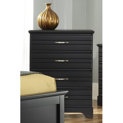 Della 4 Drawer Dresser Color: Black