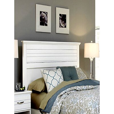 Della Panel Headboard Size: Twin, Color: White