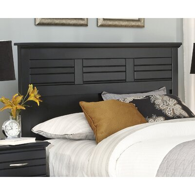 Della Panel Headboard Size: King, Color: Black