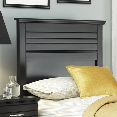 Della Panel Headboard Finish: Black, Size: King