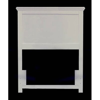 Della Panel Headboard Size: Full, Color: White