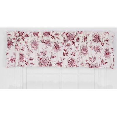 Hawthorn Floral Print Tailored Curtain 70 Curtain Valance Color: Red