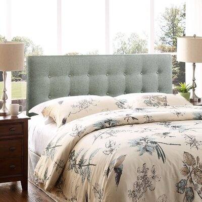 Corneau Upholstered Panel Headboard Size: King, Upholstery: Gray