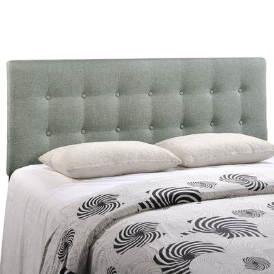 Corneau Upholstered Panel Headboard Size: Queen, Upholstery: Gray