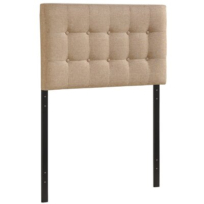 Corneau Upholstered Panel Headboard Size: Twin, Upholstery: Gray