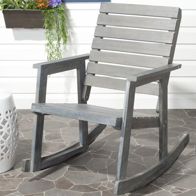 Laci Rocking Chair Finish: Ash Grey