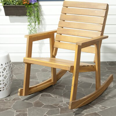 Laci Rocking Chair Finish: Natural Brown