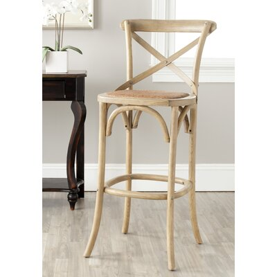 Essie 30.7 Bar Stool Frame Finish: Weathered Oak