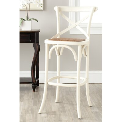 Essie 30.7 Bar Stool Frame Color: Ivory