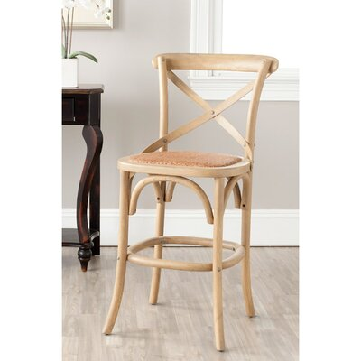 Essie 24.4 Bar Stool Frame Color: Weathered Oak
