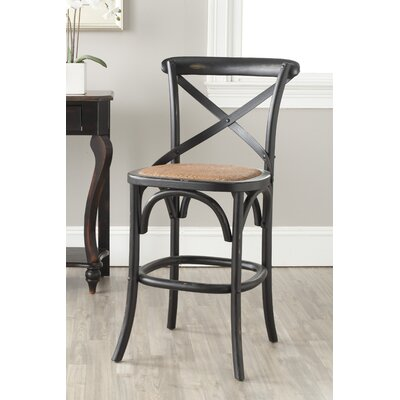 Essie 24.4 Bar Stool Frame Color: Distressed Hickory