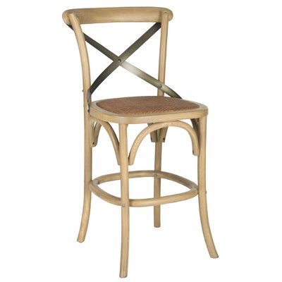 Madelynn 24 Bar Stool Frame Color: Weathered Oak