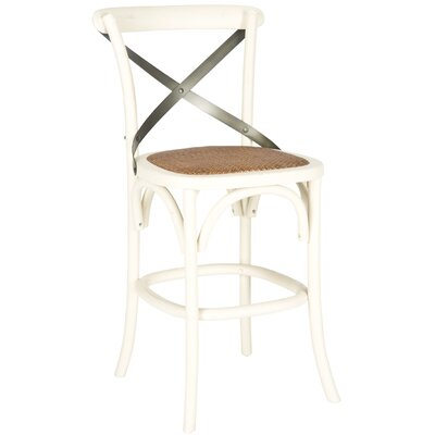 Madelynn 24 Bar Stool Frame Color: Ivory