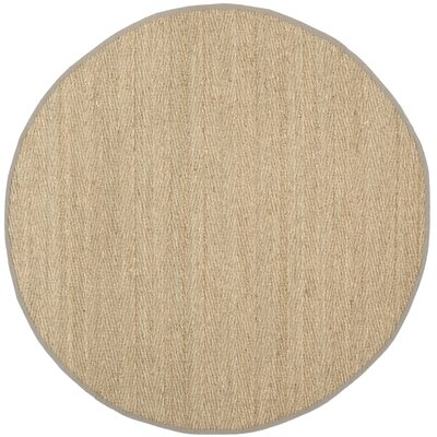 Leana Brown Area Rug Rug Size: Round 6