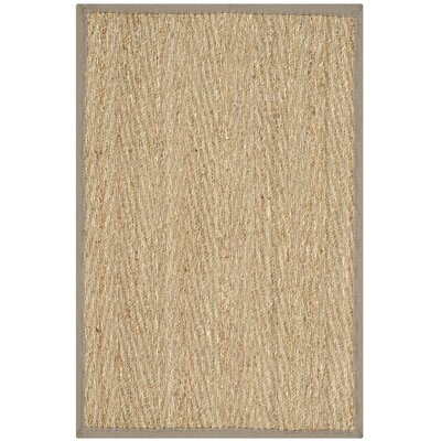 Leana Natural/Gray Area Rug Rug Size: 4 x 6
