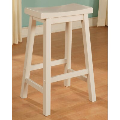 Mckayla Bar Stool Finish: White