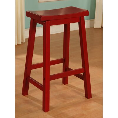 Mckayla Bar Stool Color: Red