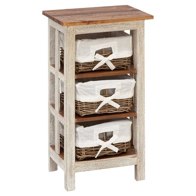 Nightingale Antiqued Rattan 3 Drawer Chest