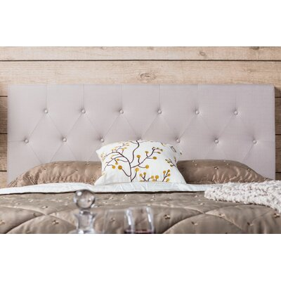 Eton Upholstered Panel Headboard Size: Twin, Color: Ivory