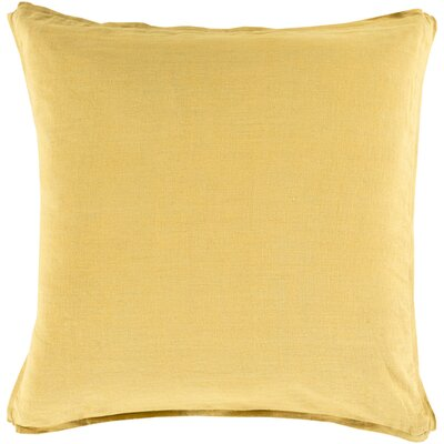 Meghan Throw Pillow Color: Gold, Filler: Down