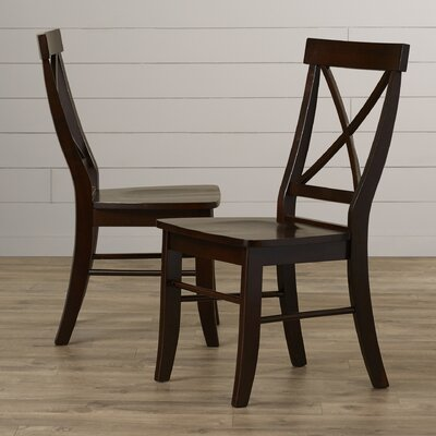 Sawyer Cross Back Side Chair Finish: Rich Mocha